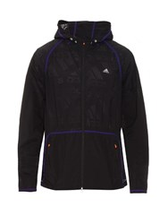 Adidas By Kolor Attached Hood Nylon Jacket Purple Multi