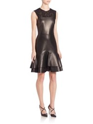 Jason Wu Sleeveless Leather Dress Black