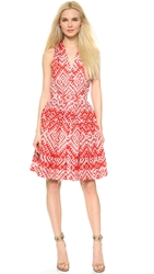 Temperley London Ripple Print Sleeveless Dress Red Mix