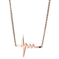 Delphine Leymarie Amour Heartbeat Necklace 18K Rose Gold
