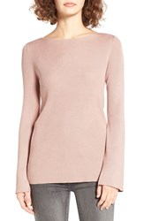 Love By Design Women's Cross Back Rib Knit Pullover Blush Pink