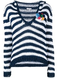 Natasha Zinko Striped Hooded Knit Multicolour