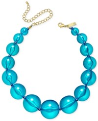 Inc International Concepts Gold Tone Graduated Acrylic Bead Collar Necklace Only At Macy's Multi
