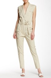 Shades Of Grey Sleeveless Flight Suit Beige