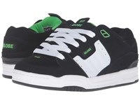 Globe Fusion Black White Green Men's Skate Shoes