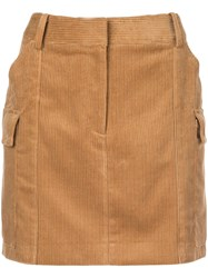 Stella Mccartney Corduroy Mini Skirt Nude And Neutrals