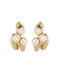 Carelle Whirl 18K Gold Diamond Cluster Earrings