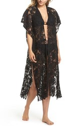 Echo Star Coral Lace Cover Up Tunic Black