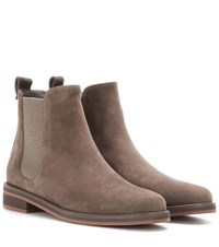Loro Piana Montrond Suede Chelsea Boots Grey