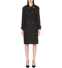 Burberry The Lightweight Silk And Wool Blend Trench Coat Black