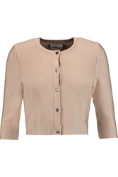 Issa Mills Cropped Stretch Knit Cardigan