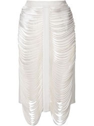Dion Lee Draped Bandage Skirt White