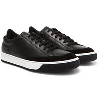 Common Projects Tennis Pro Suede Trimmed Leather Sneakers Black