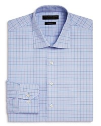 Bloomingdale's The Men's Store At Houndstooth Ground Multi Check Slim Fit Dress Shirt 100 Exclusive Blue