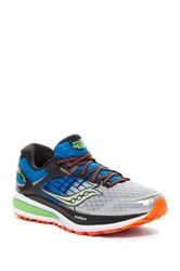 Saucony Triumph Iso 2 Running Shoe Wide Width Blue