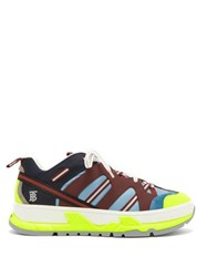 Burberry Rs5 Low Top Nubuck And Mesh Trainers Blue Multi
