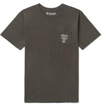 Mollusk Printed Cotton Jersey T Shirt Charcoal