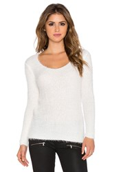 Wilde Heart Loose Ends Fluffy Sweater White