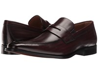 Florsheim Sabato Penny Wine Hand Brushed Men's Slip On Dress Shoes Brown