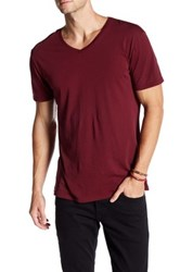 Slate And Stone V Neck Short Sleeve Tee Red