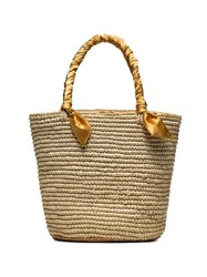 Sensi Studio Medium Woven Basket Bag Neutrals