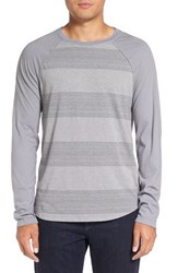 Michael Stars Men's Variegated Stripe Long Sleeve T Shirt