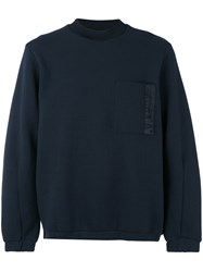 Oamc Knitted Sweater Men Cotton Polyamide Polyester Cupro M Blue