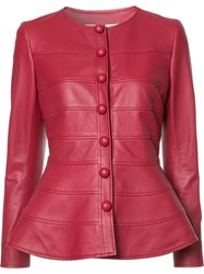 Carolina Herrera Peplum Jacket Red