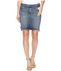Joe's Jeans High Low Pencil Skirt In Sanja Sanja Women's Skirt Blue