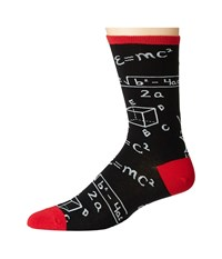 Socksmith Math Black 1 Crew Cut Socks Shoes