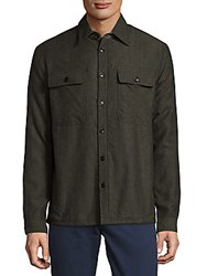 Saks Fifth Avenue Point Collar Cotton Button Down Shirt Chambray