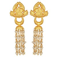 Carousel Jewels Ornate Gold And Pearl Chandelier Earrings Gold Neutrals