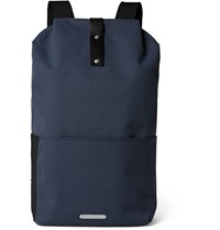 Brooks England Dalston Leather Trimmed Canvas Backpack Blue
