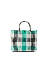 Truss Small Crossbody In Green White Checkered And Plaid Green White Checkered And Plaid
