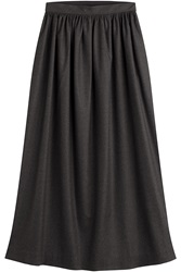 Maison Martin Margiela Maison Margiela Virgin Wool Midi Skirt Grey