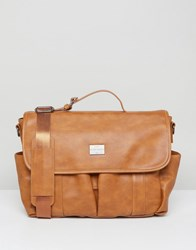 Peter Werth Verdon Vintage Messenger Tan