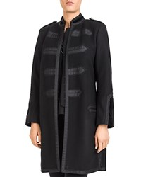 The Kooples Military Style Banded Coat Black