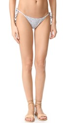 Eberjey Tesoro Kate Tie Side Bikini Bottoms Faded Blue