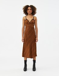 Which We Want Brooke Plaid Dress Brown
