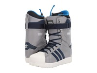 Adidas The Superstar Charcoal Grey Chalk White Men's Snow Shoes Gray