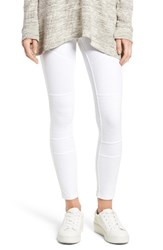 Hue Women's Moto Denim Leggings White