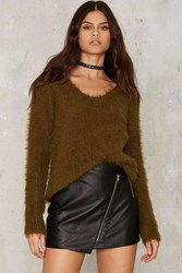 Glamorous In Fur A Surprise Sweater Green