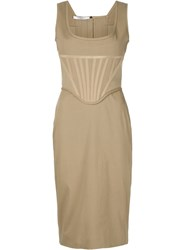 Givenchy Fitted Bustier Dress Nude And Neutrals