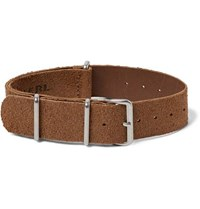 Rrl Roughout Suede Watch Strap Brown