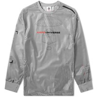 Aape By A Bathing Ape Nyon Hooded Training Jacket Grey