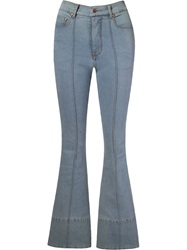 Amapo High Waist Flared Jeans Blue
