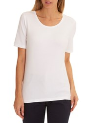 Betty Barclay Short Sleeve T Shirt Bright White