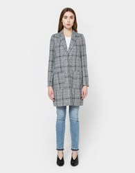 Stelen Plaid Oversized Coat Grey