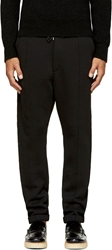 Costume N Costume Black Cotton Cuffed Lounge Pants