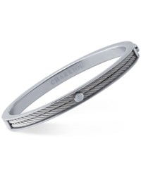 Charriol Women's Forever Stainless Steel Cable Bangle Bracelet Silver
